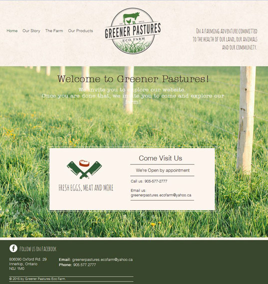 Greener Pastures Eco Farm, Innerkip - Carl and Andrea VanRooyen - On a Farming Adventure Committed to the Health of our Land, our Animals and our Community