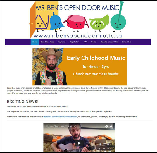Open Door Music Hamilton, Dundas music program for kids Open Door Music