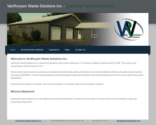 VanRooyen Waste Solutions Inc.
